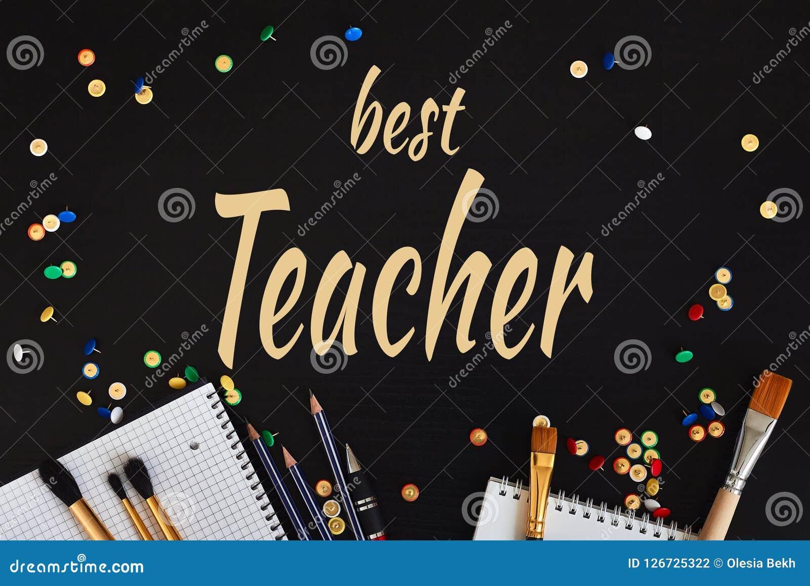 Teachers& feliz x27; Tarjeta de felicitación del día