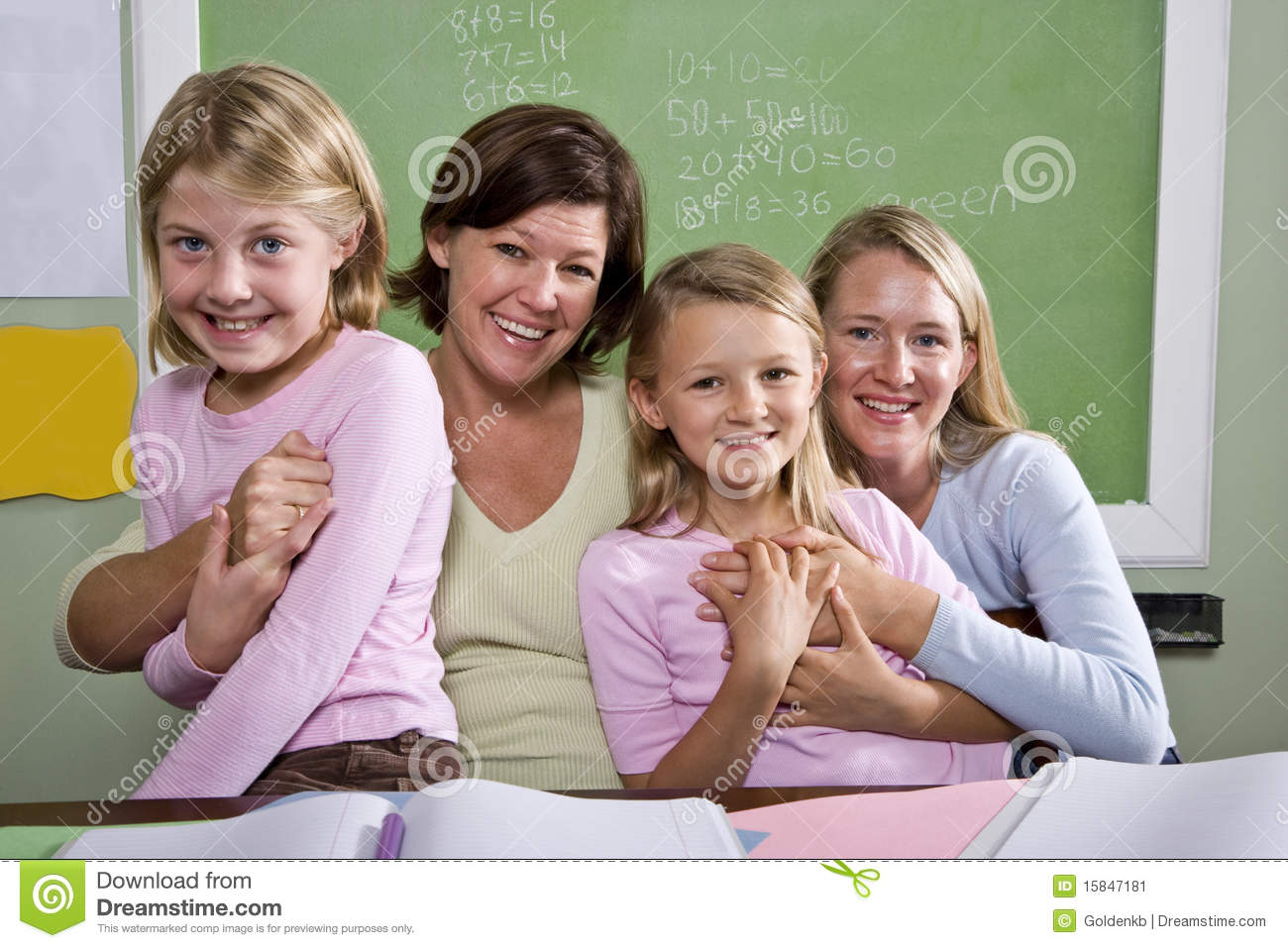 Teachers And Students In Classroom Stock Image - Image: 15847181