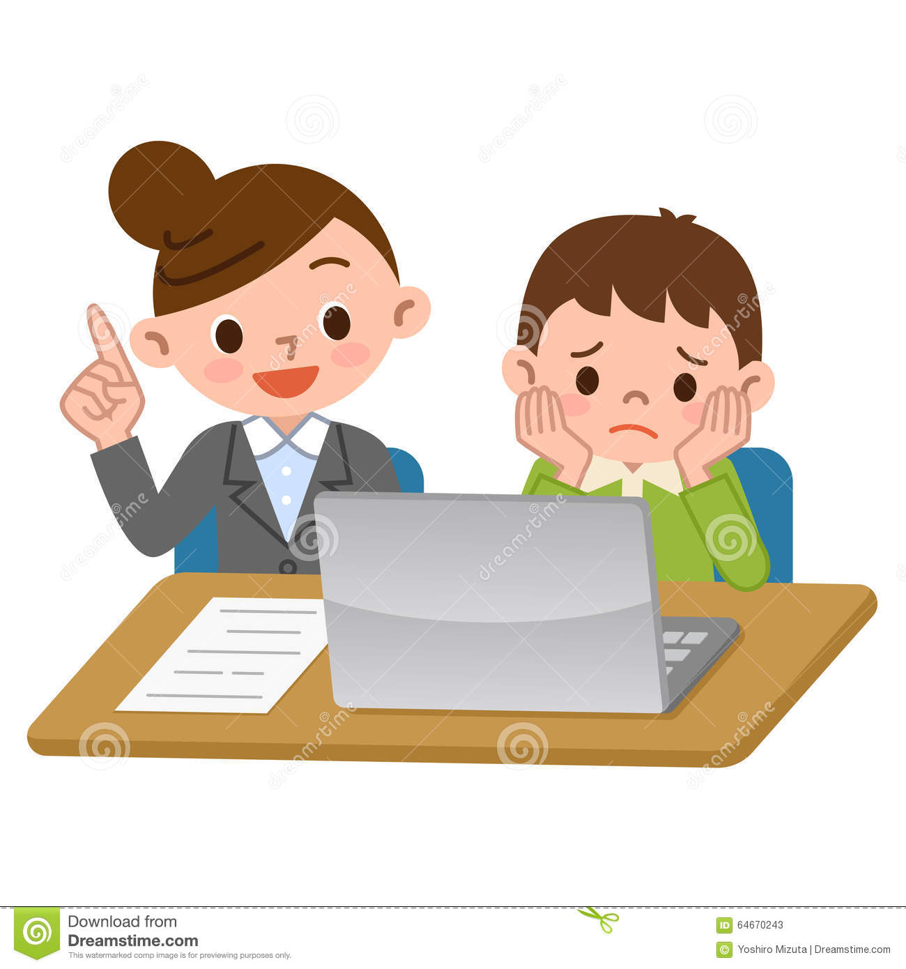teachers and students of computer learning stock vector Recess Clip Art teacher helping student clipart