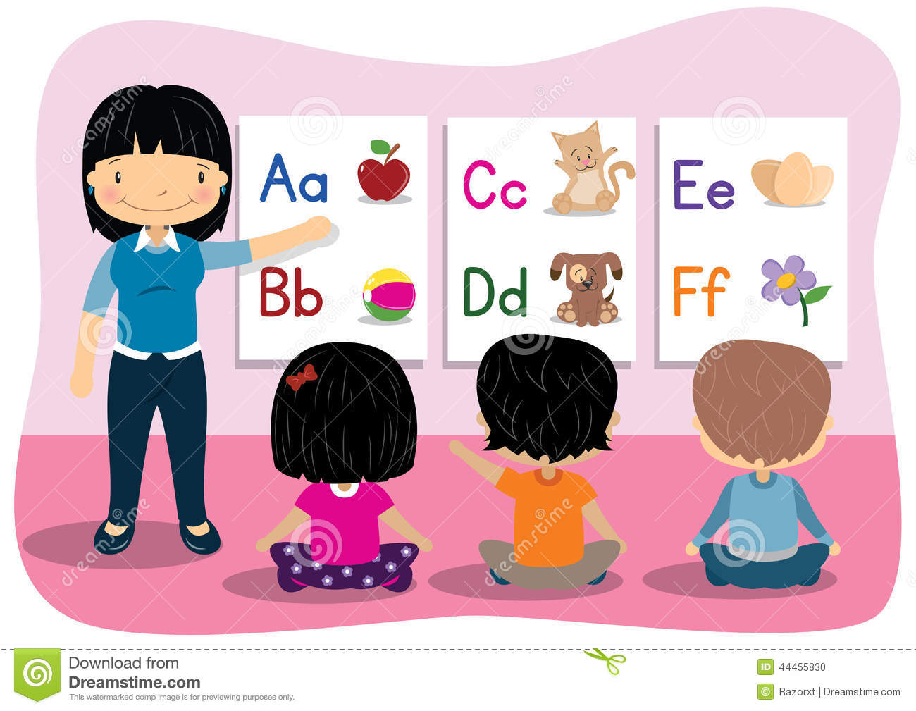 Teaching Alphabet Stock Vector - Image: 44455830