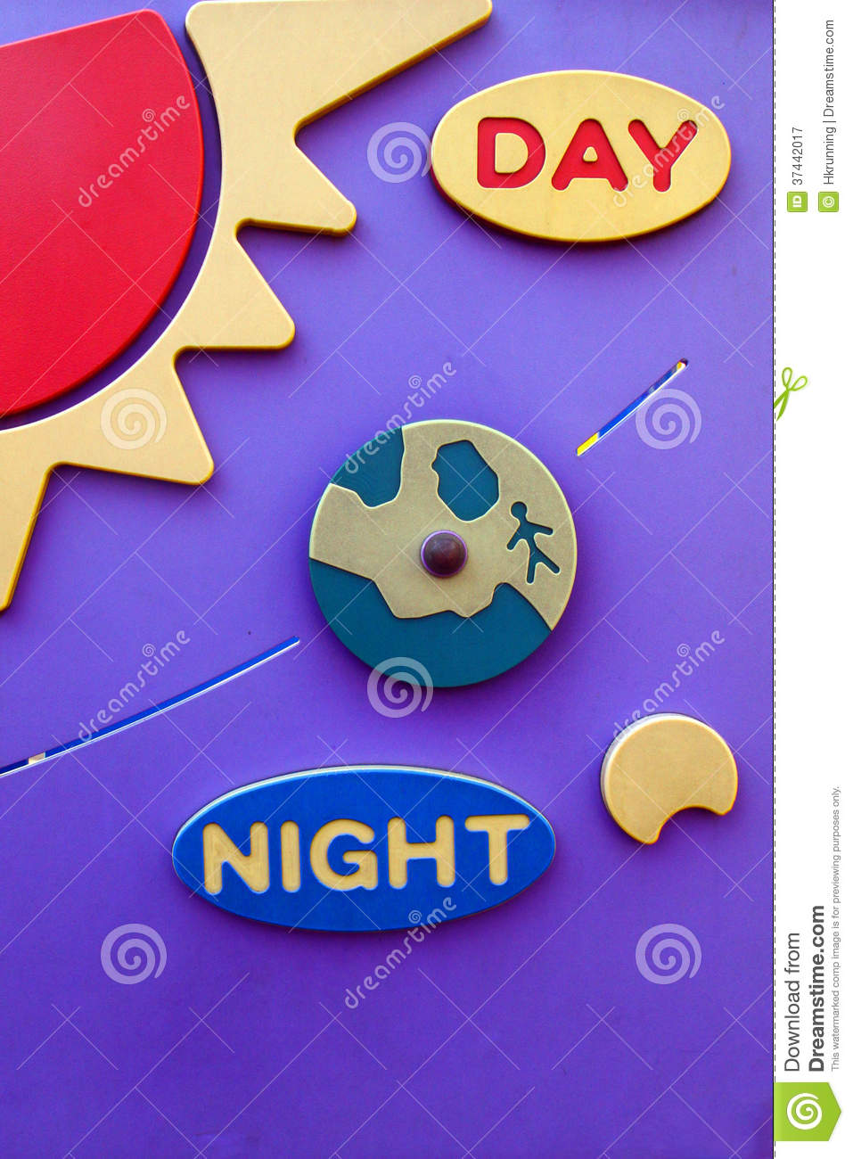 Kids at night with moon royalty free stock photography image - Royalty Free Stock Photo Board Day Earth Moon Night