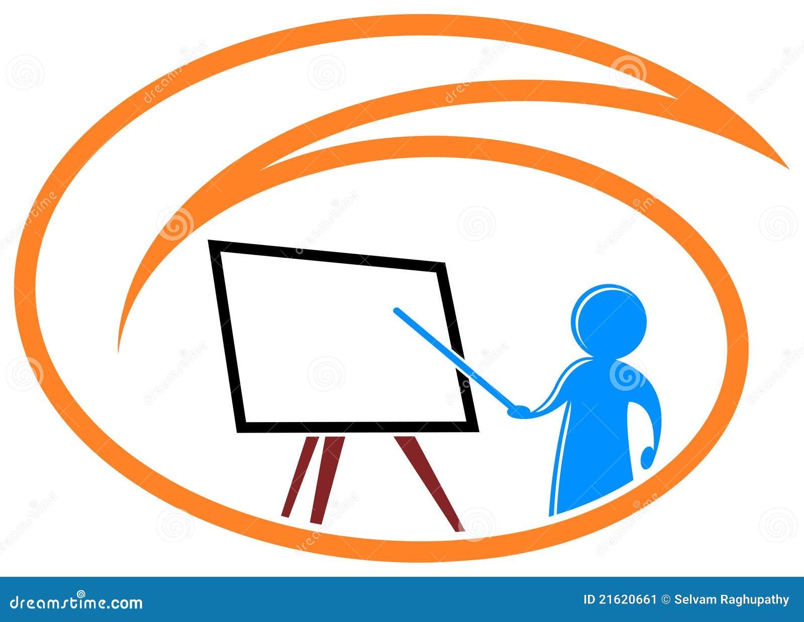 Classroom Logo Design : Teaching logo stock vector illustration of lecture