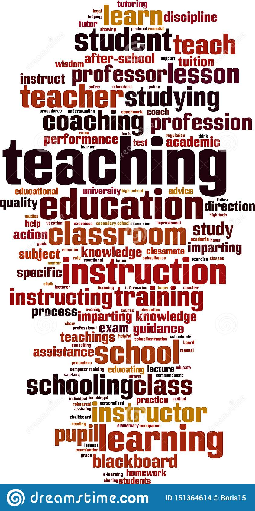 Teaching word cloud stock vector. Illustration of learn ...