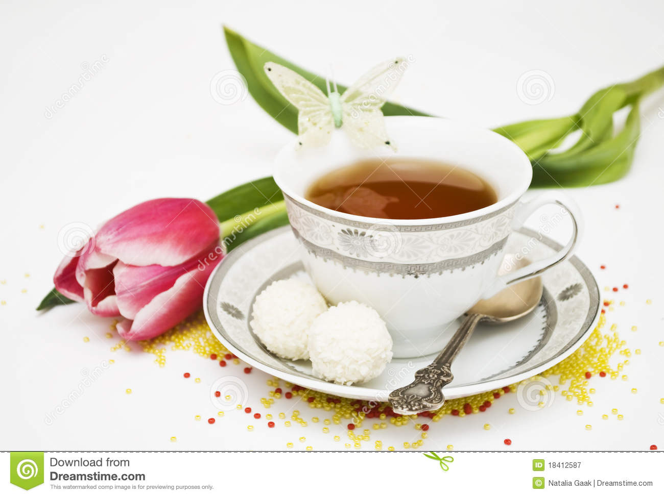 Teacup And Flowers Royalty Free Stock Photography Image