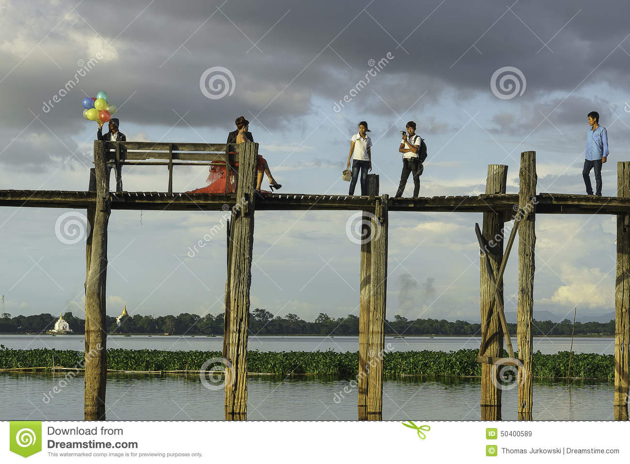 Teak bridge and newly weds editorial stock image image for Http wikipedia org wiki