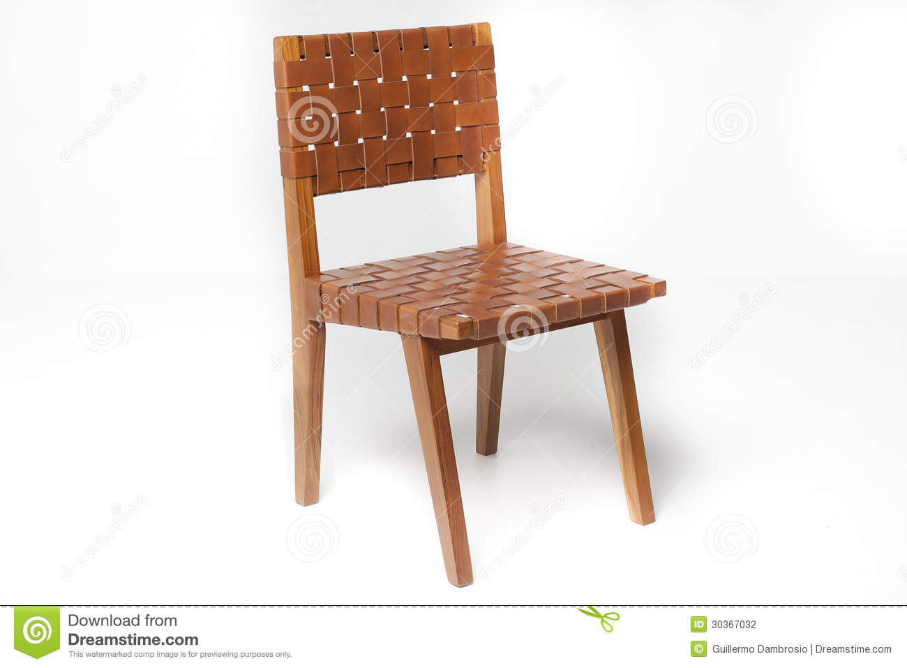Teak Chair With Leather Stock Photography Image 30367032