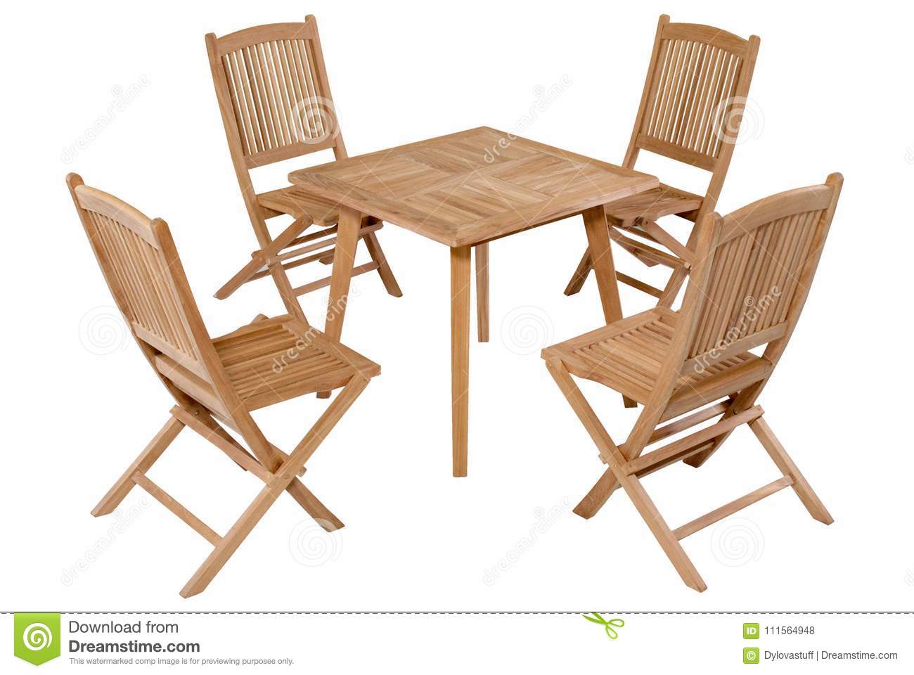 Picture of: Teak Folding Table Garden Furniture Garden Furniture Set Stock Photo Image Of Isolated Furniture 111564948