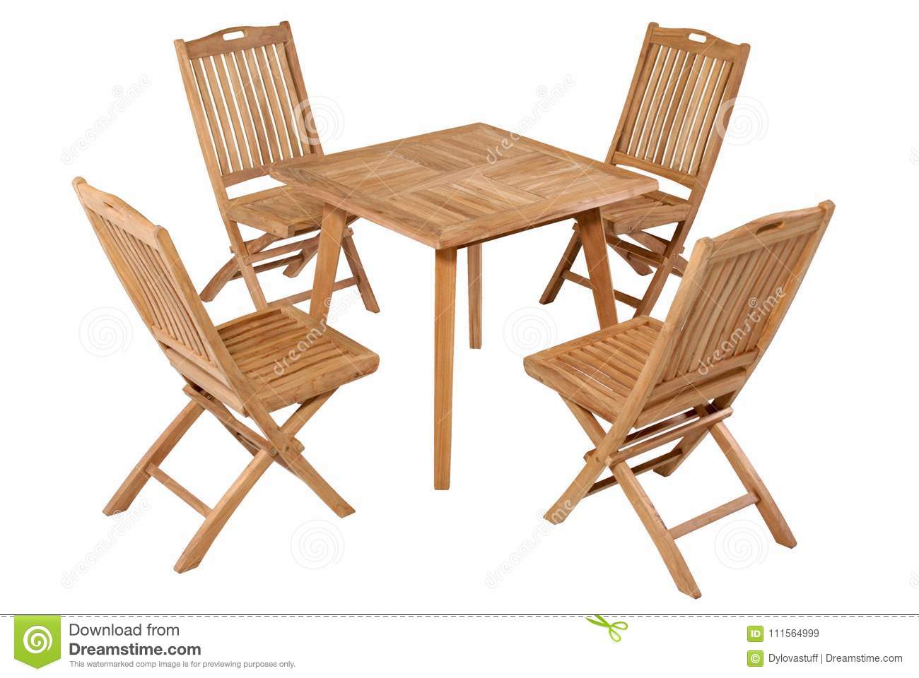 Picture of: Teak Folding Table Garden Furniture Garden Furniture Set Stock Image Image Of Furniture Isolated 111564999