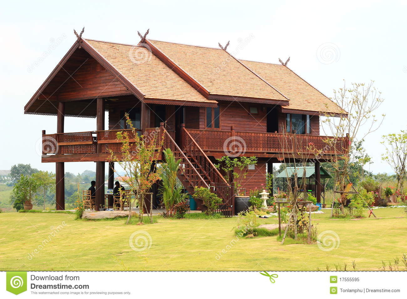 Teak house stock image image of thailand design tree for Thailand houses pictures