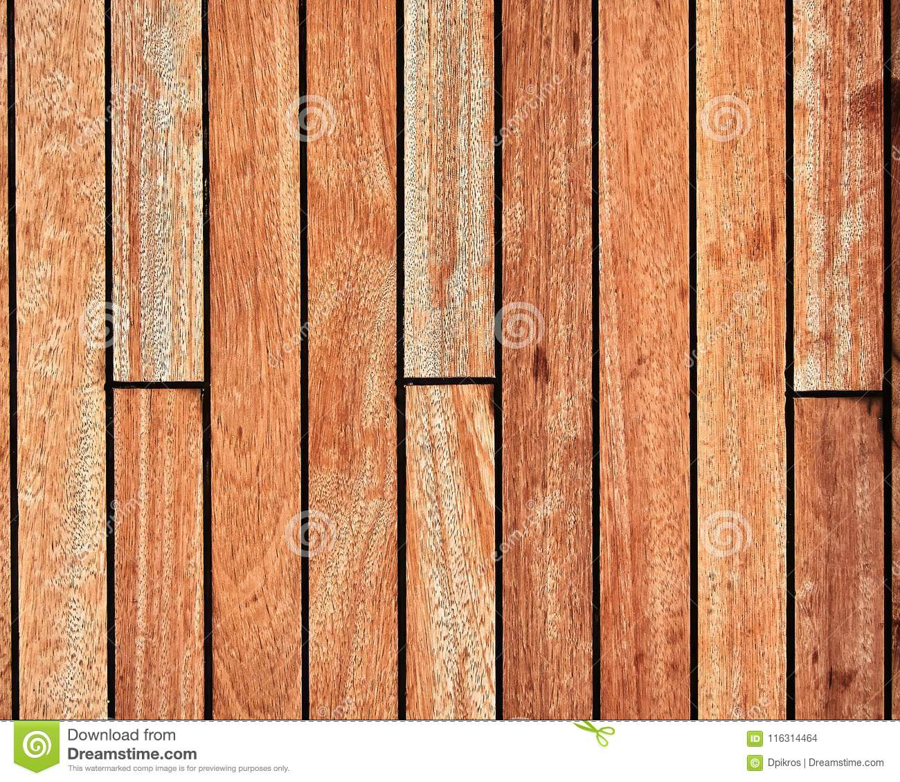 Teak wood deck, brown texture background