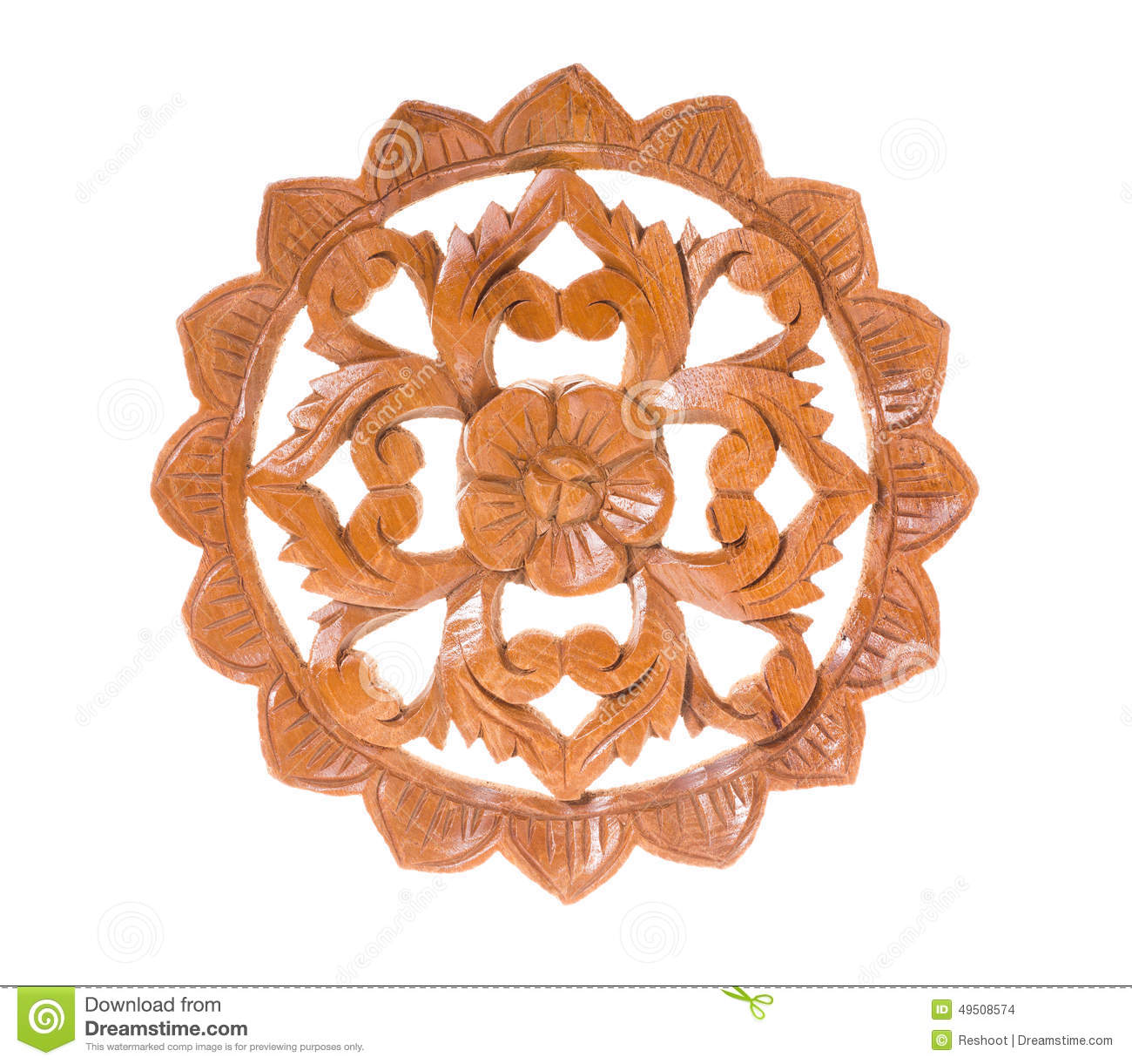 Teak wood carving stock photo  Image of carve, wooden - 49508574