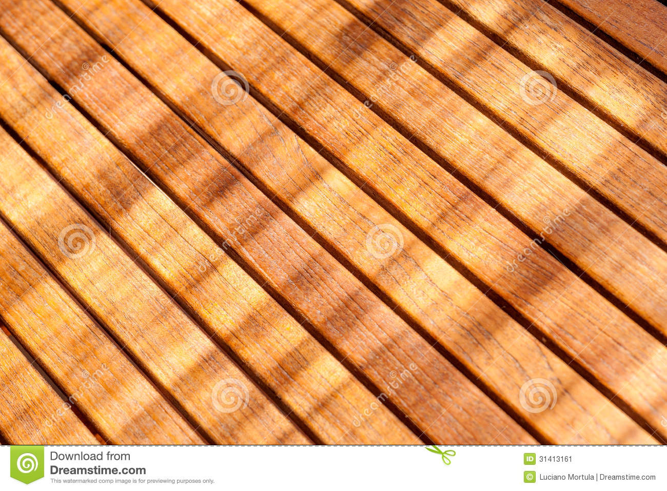 Teak wood table stock image of construction nature