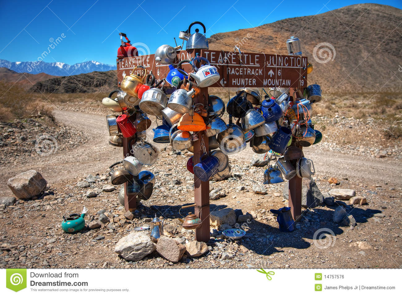 Teakettle Junction In Death Valley National Park Stock Photo Image