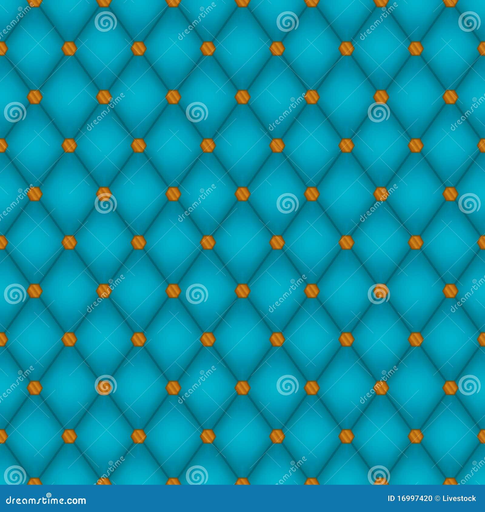 Teal Diamond Seamless Tile Stock Photo