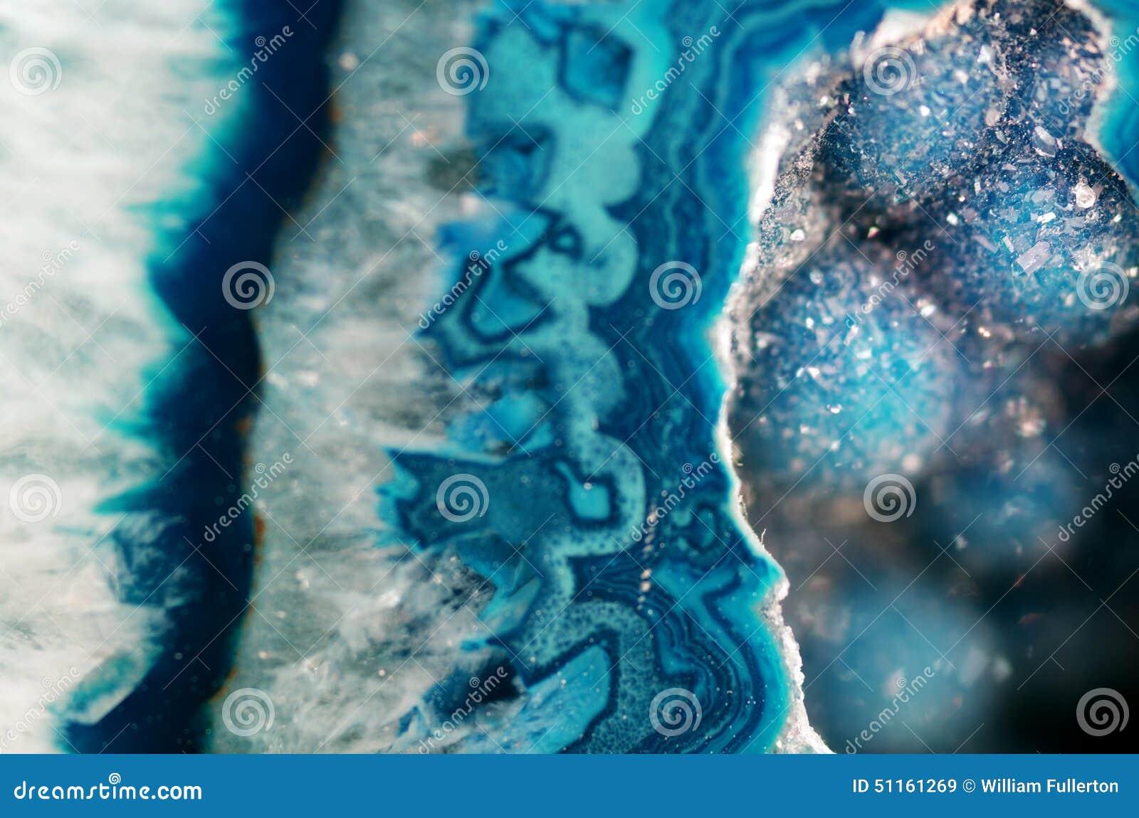 Teal Geode Macro