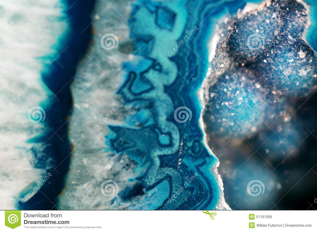Download Teal Geode Macro stock image. Image of natural, object - 51161269