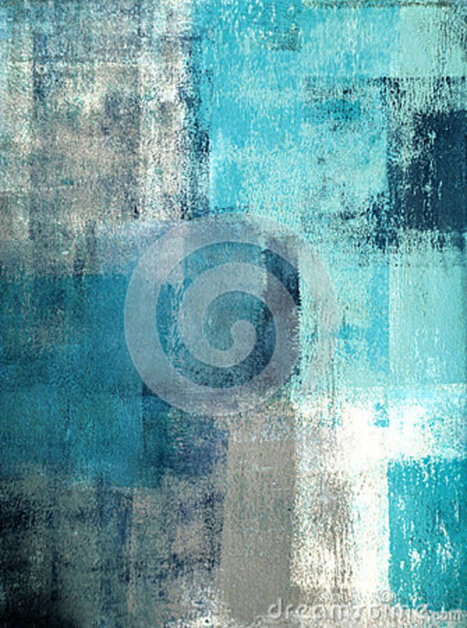 93470bde2a9 Teal And Grey Abstract Art Painting Stock Image - Image of gallery ...