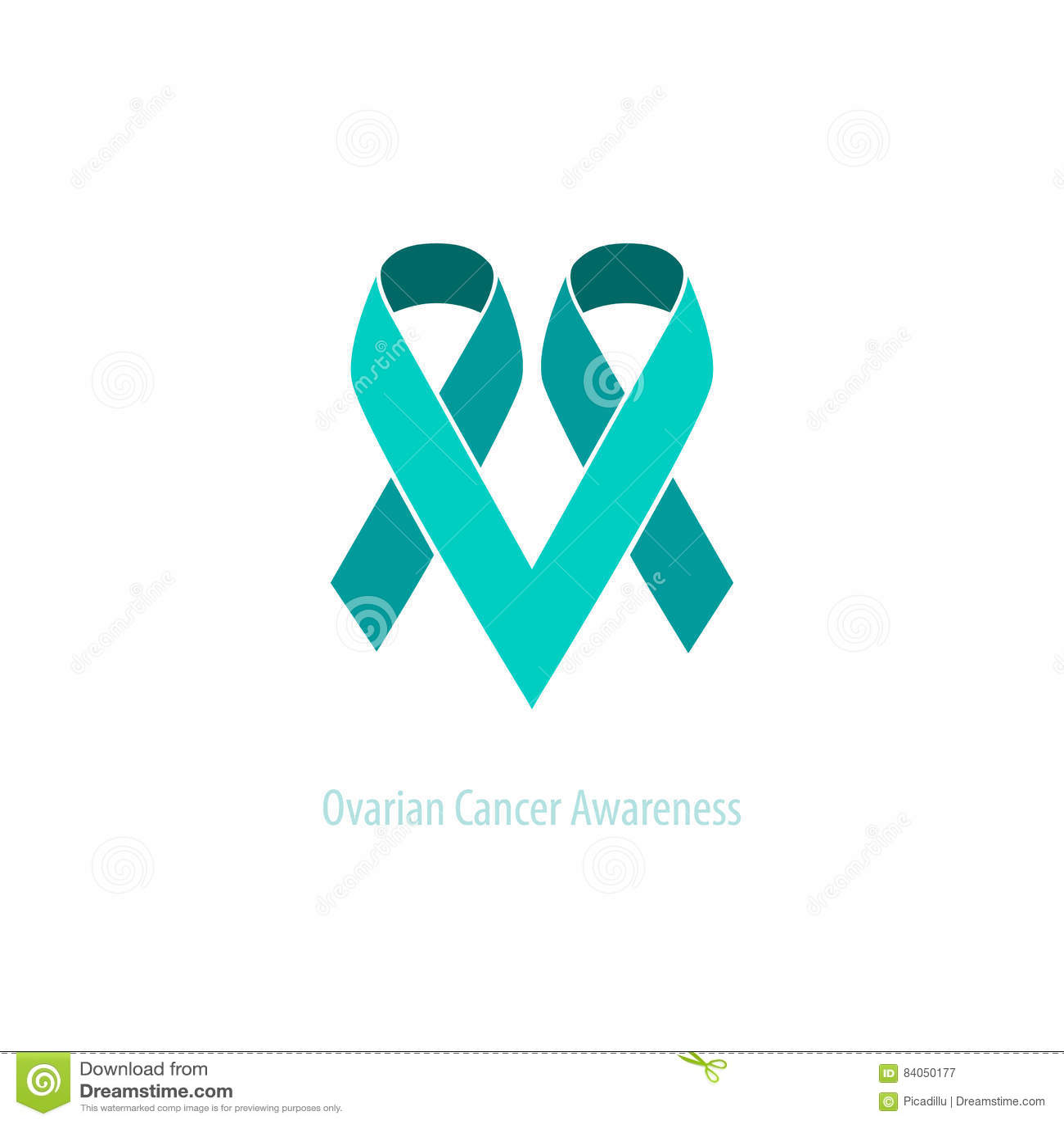 Teal Ribbons Ovarian Cancer Awareness-&Support Herz-Emblem