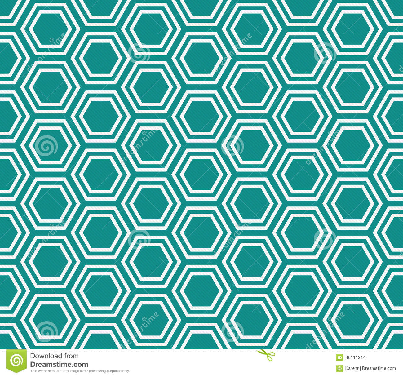 Teal And White Hexagon Tiles Pattern Repeat Background Stock Photo ...