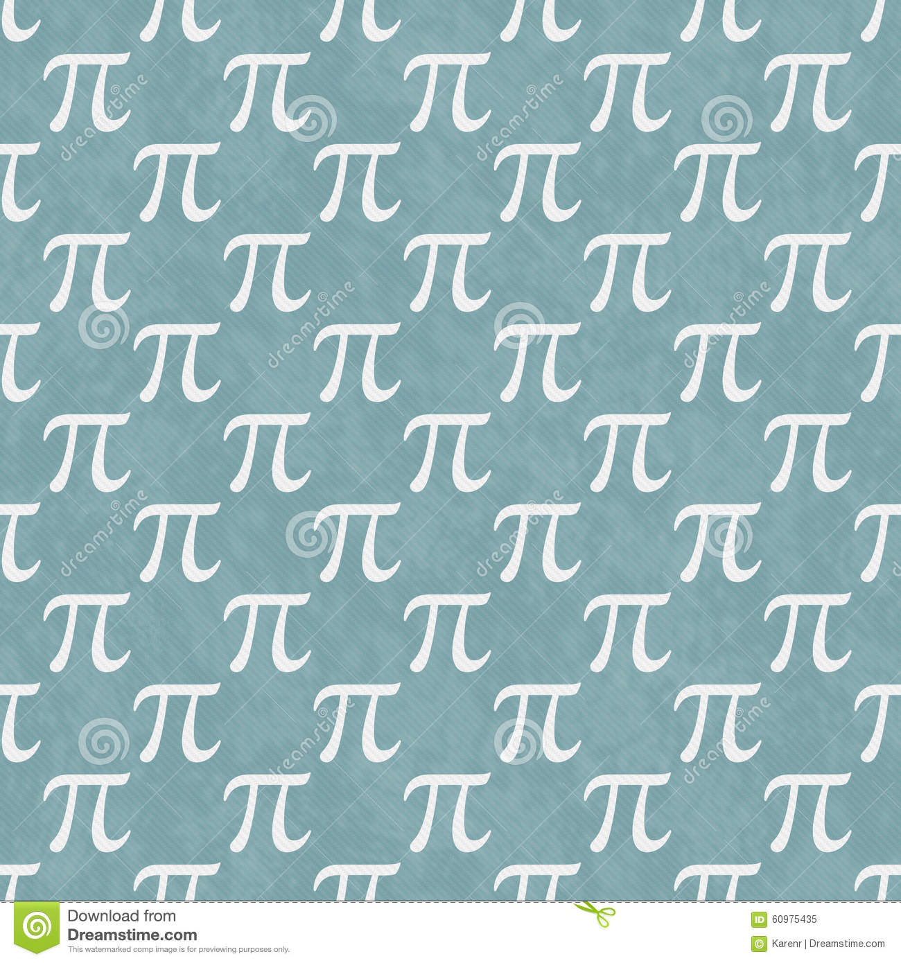Teal And White Pi Symbol Design Tile Pattern Repeat Background ...