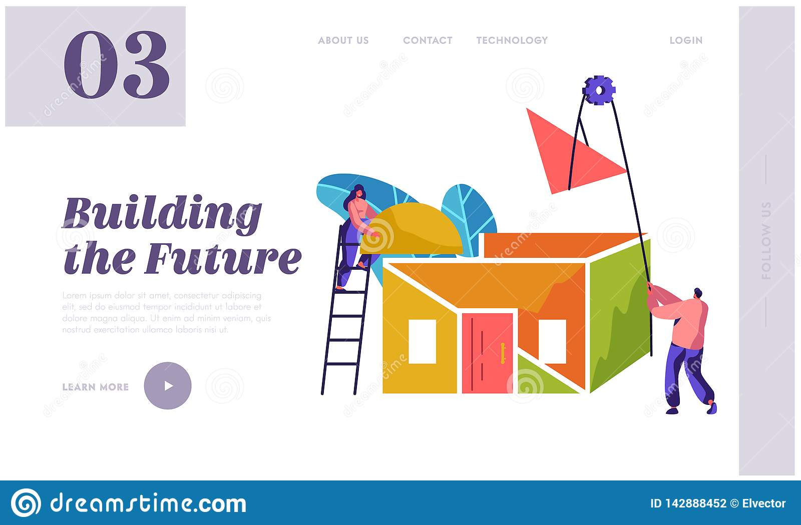 Team Builder Construction New Home Landing Page  Woman In