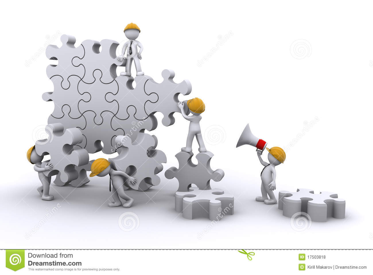 Team Building A Puzzle. Eveloping Concept. Royalty Free Stock Photos ...