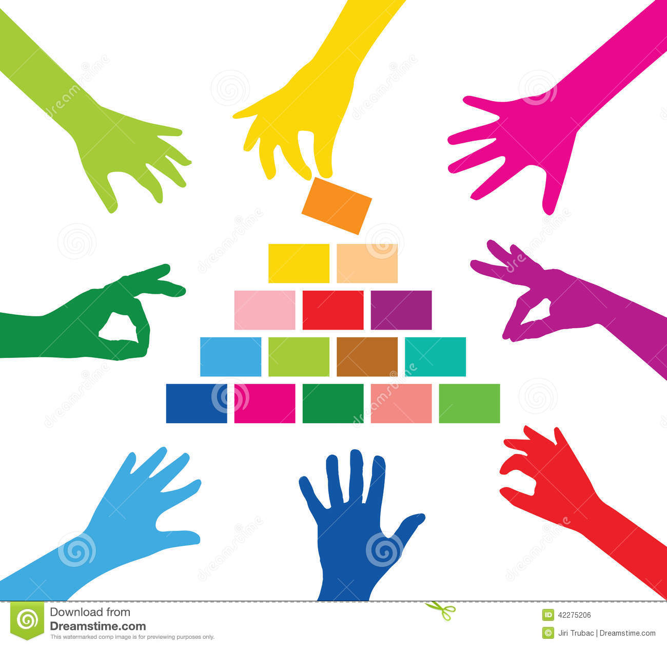 team building pyramid stock photo image of connection 42275206 rh dreamstime com team building clipart png Leadership and Team Building Clip Art