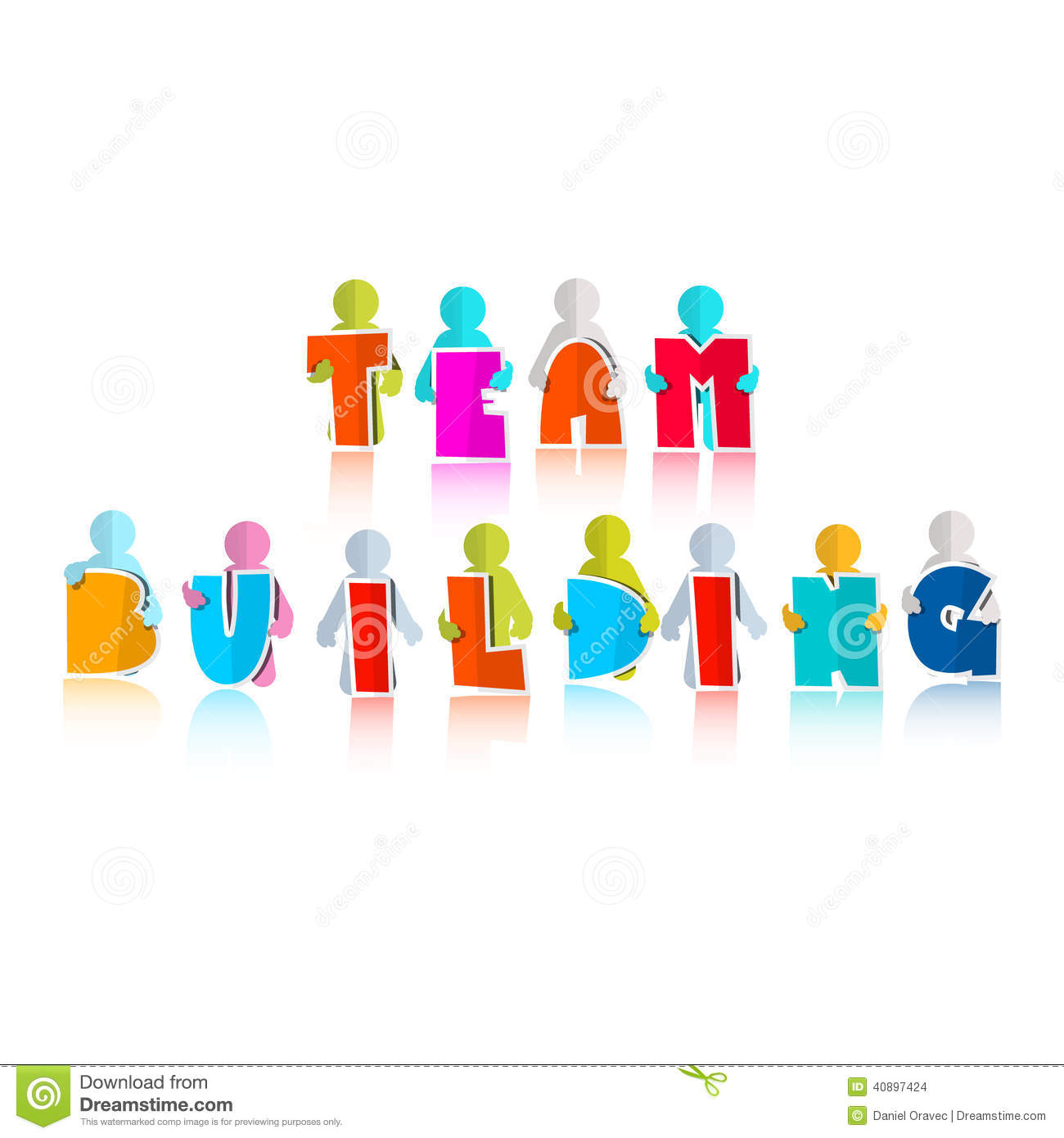 Team Building Title Stock Vector - Image: 40897424