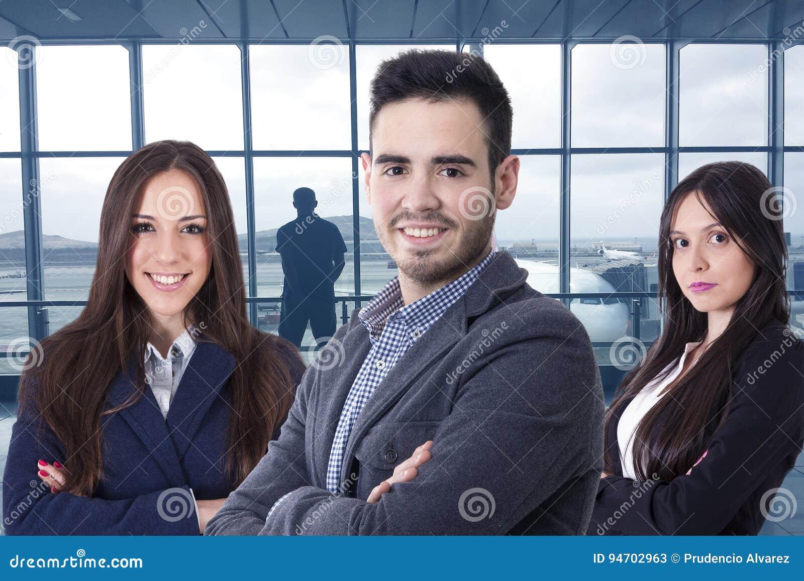 Team of business executives