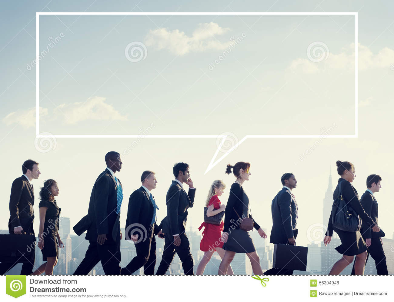 Team Business People Corporate Walking City Concept