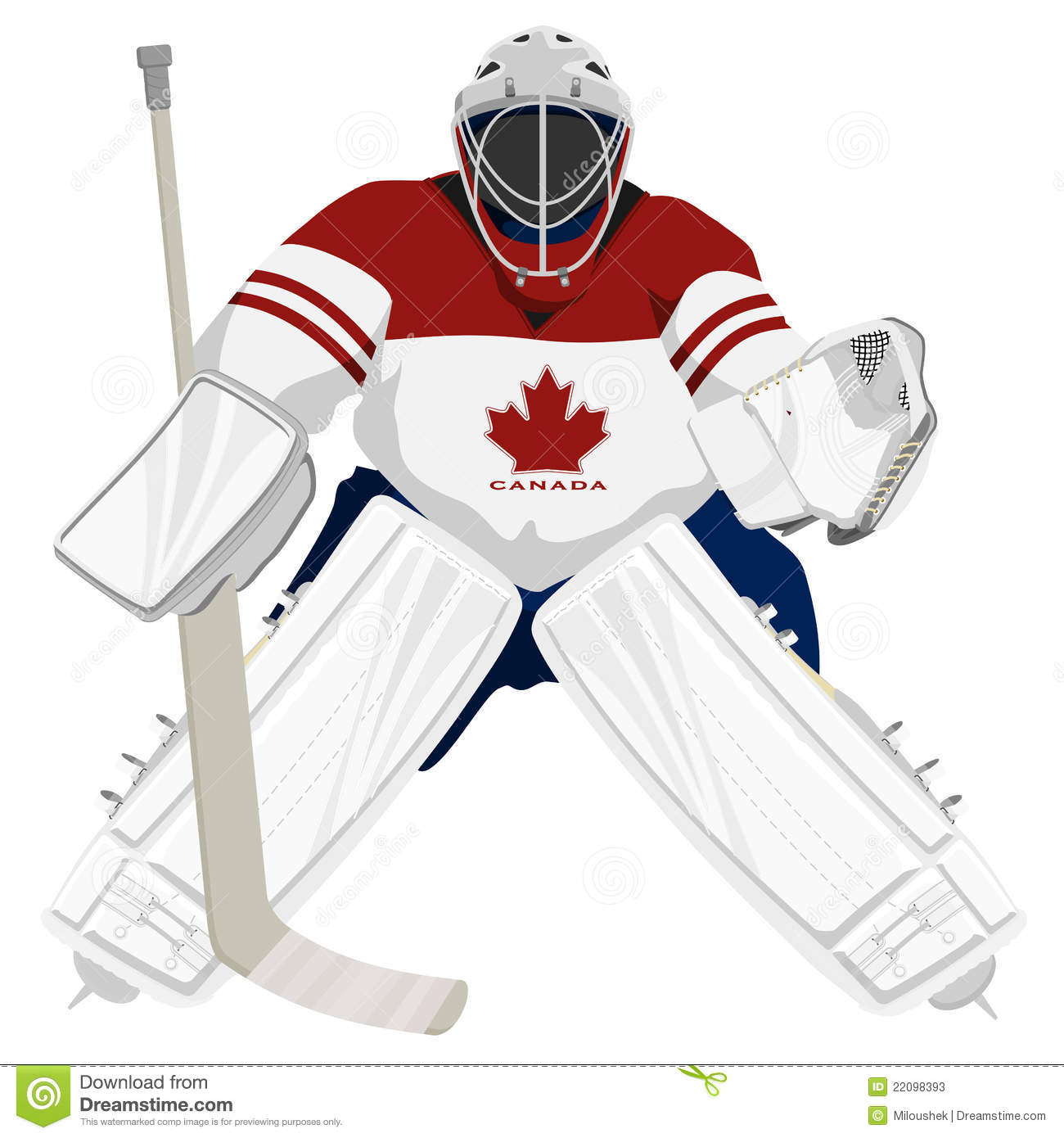 Team Canada Hockey Goalie Stock Vector Illustration Of Canada