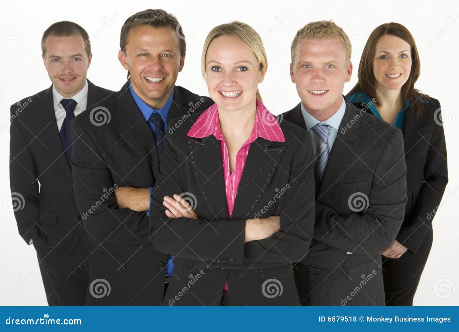 Team der freundlichen Geschäftsleute