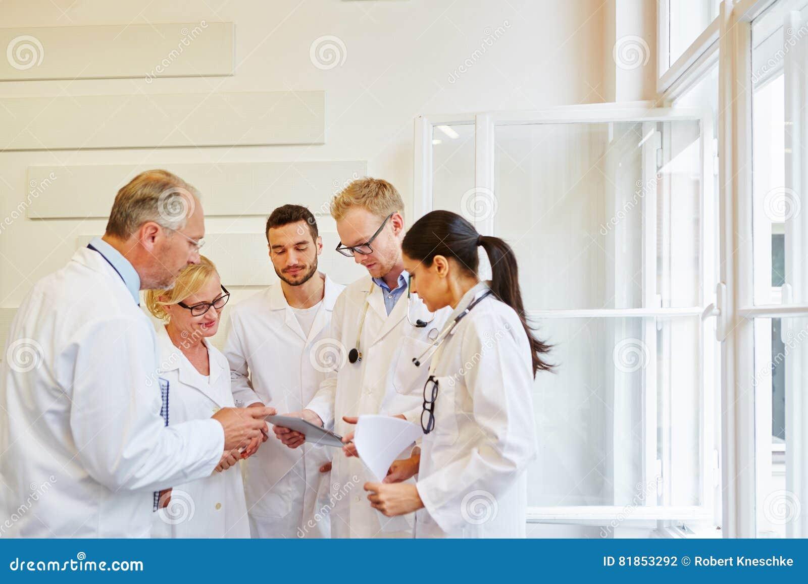 Team of doctos in meeting