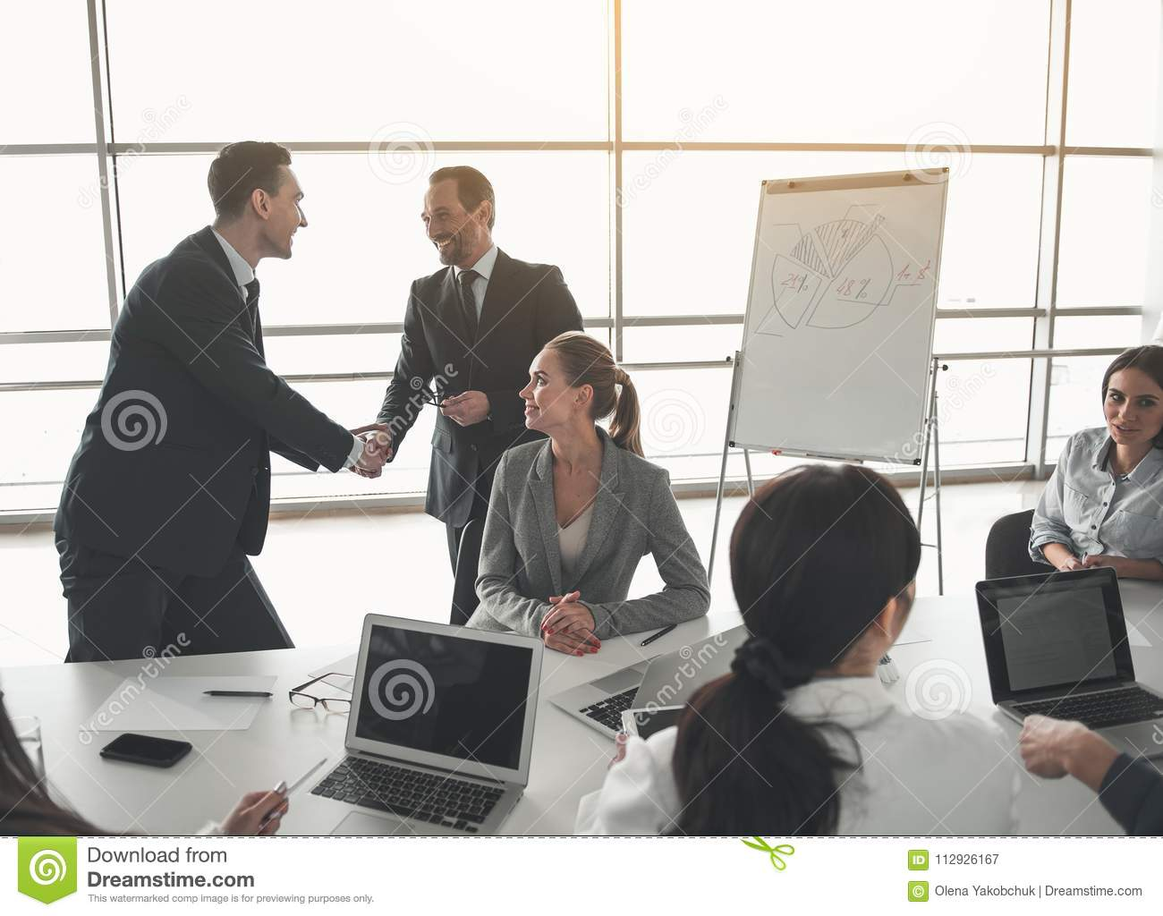 Boss thanking the employee for good results stock image image of download boss thanking the employee for good results stock image image of greet analyze m4hsunfo