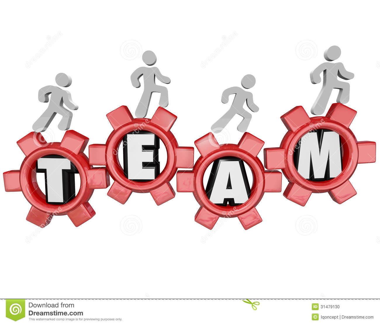 Team gears workers marching together teamwork stock photo image
