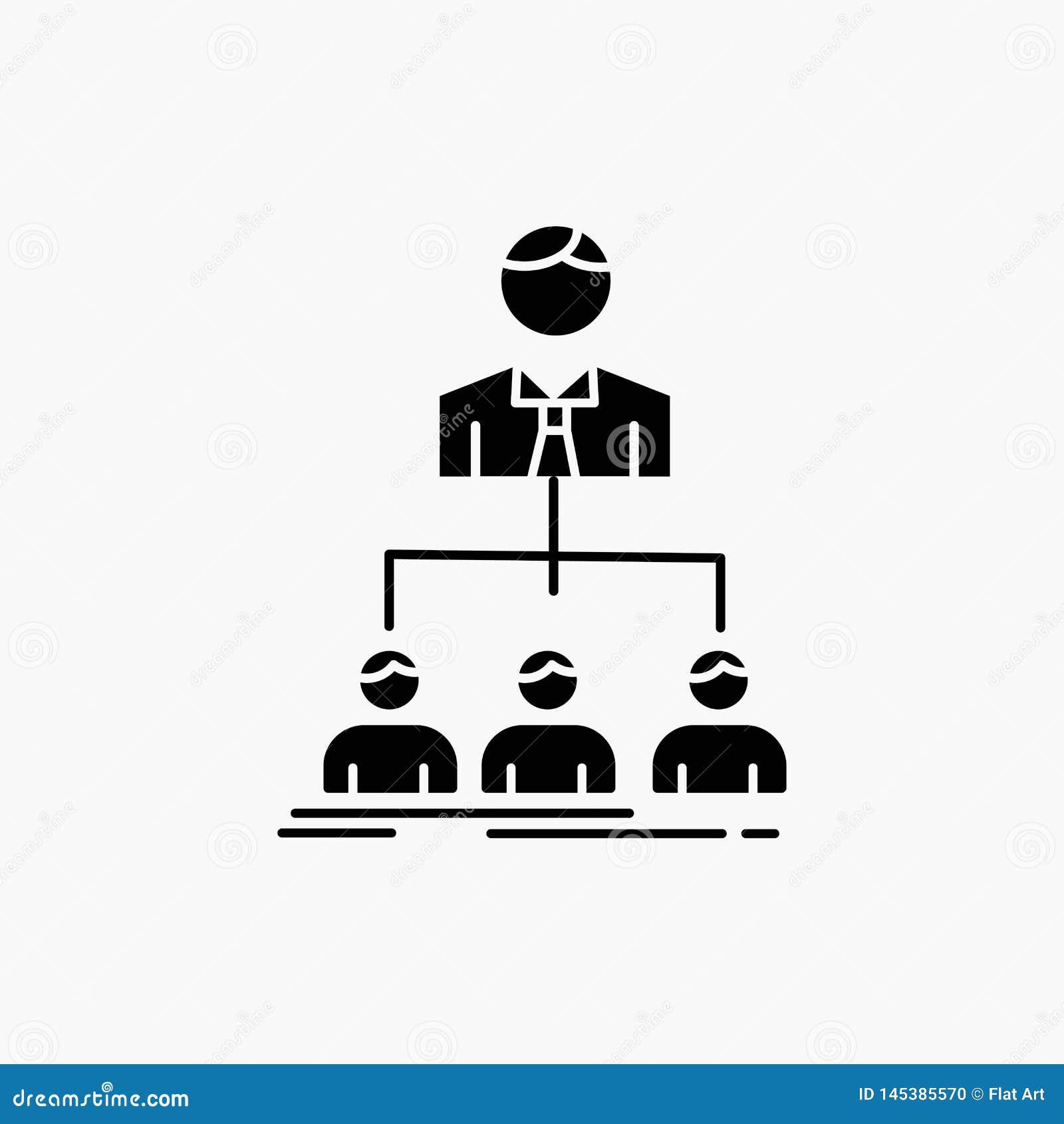 Team, groepswerk, organisatie, groep, het Pictogram van bedrijfglyph Vector ge?soleerde illustratie