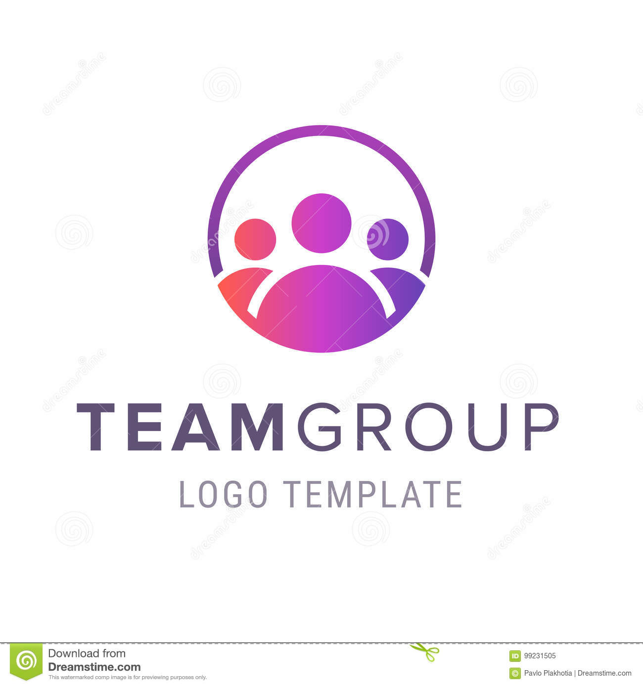 Team Group Logo Template Creative People Logo Design Template With