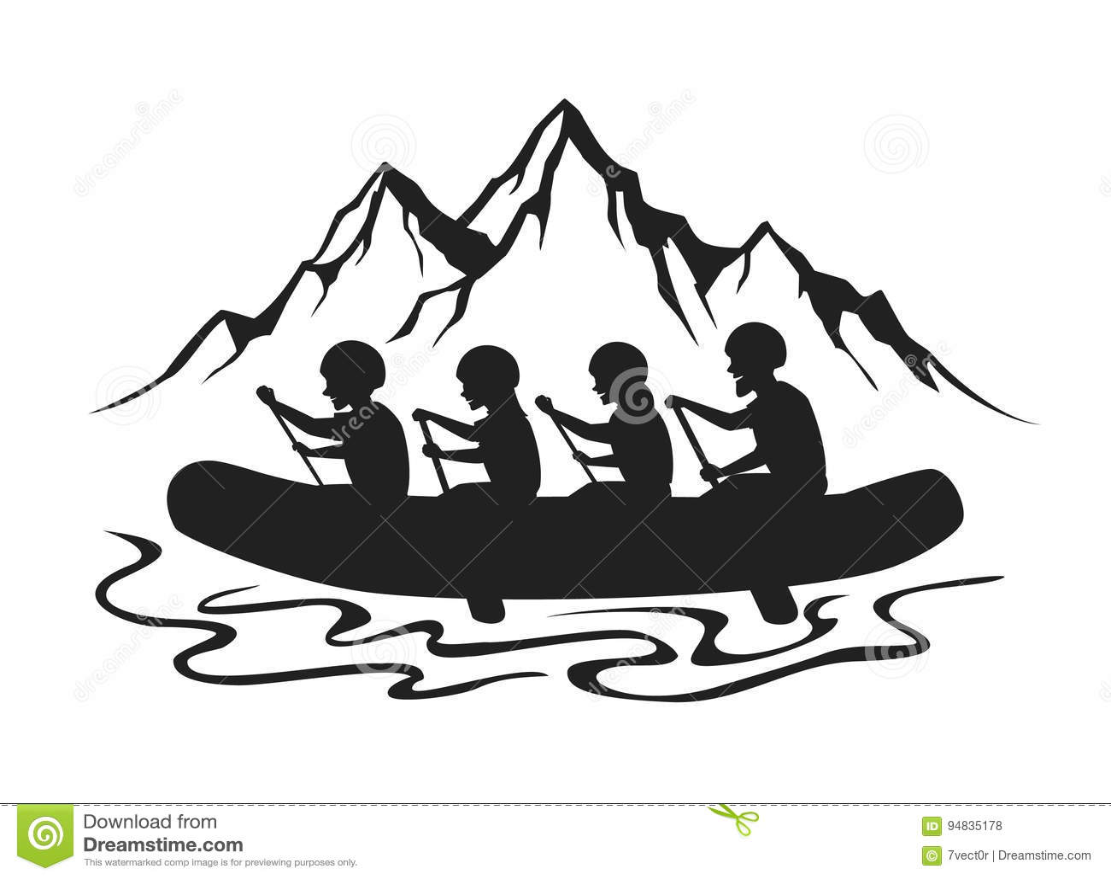 Extreme Whitewater Rafting Stock Illustrations 42 Extreme