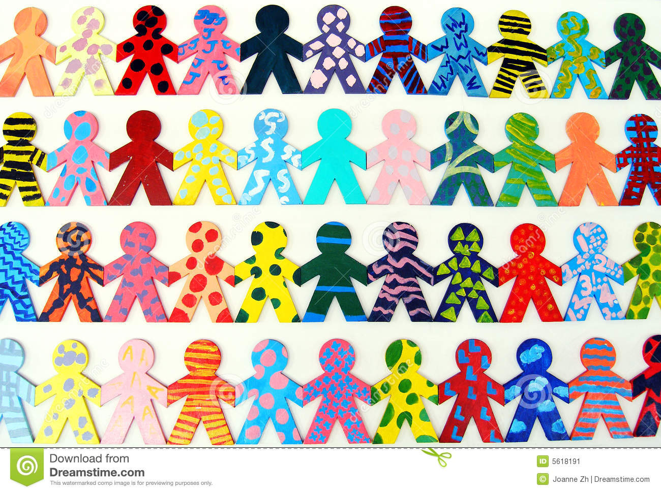 Team Of Happy People Working Together Stock Image Image Of