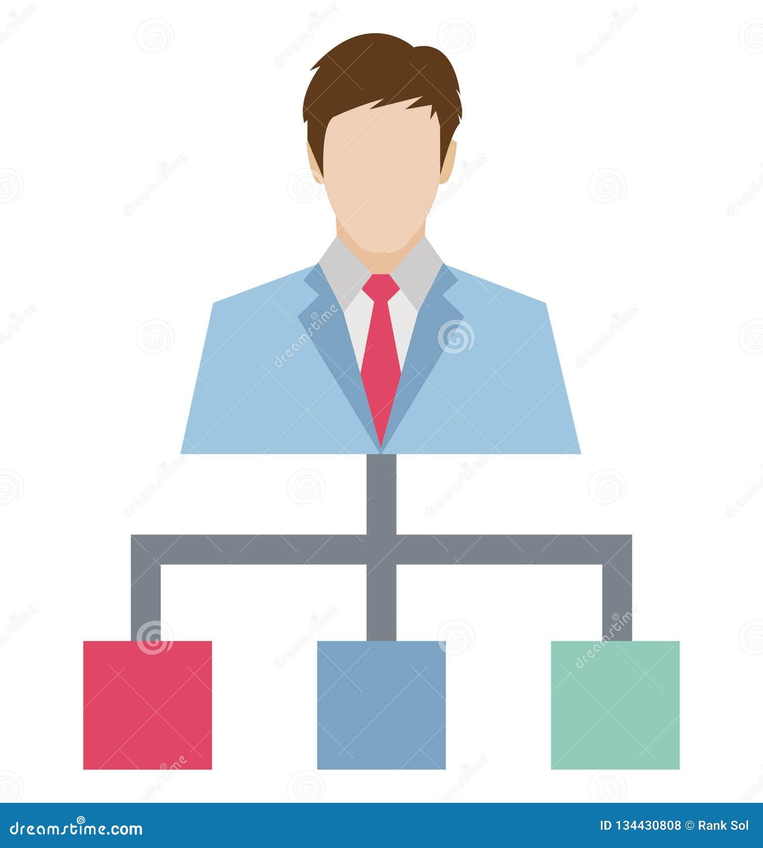 Team Hierarchy Color lokalisierte Vektor-Ikone, die leicht geändert werden oder redigieren kann