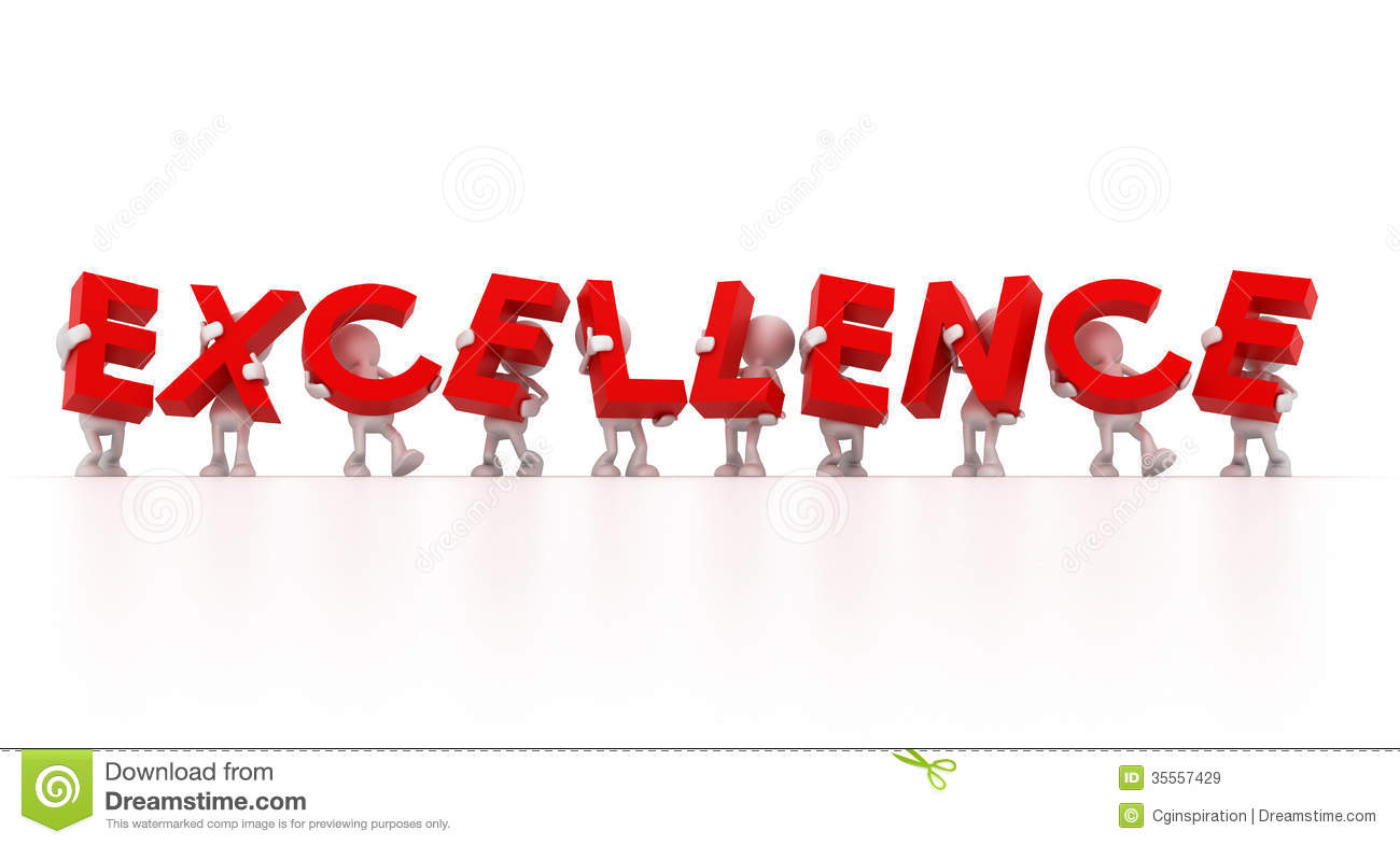 ... Holding Excellence Word Royalty Free Stock Images - Image: 35557429