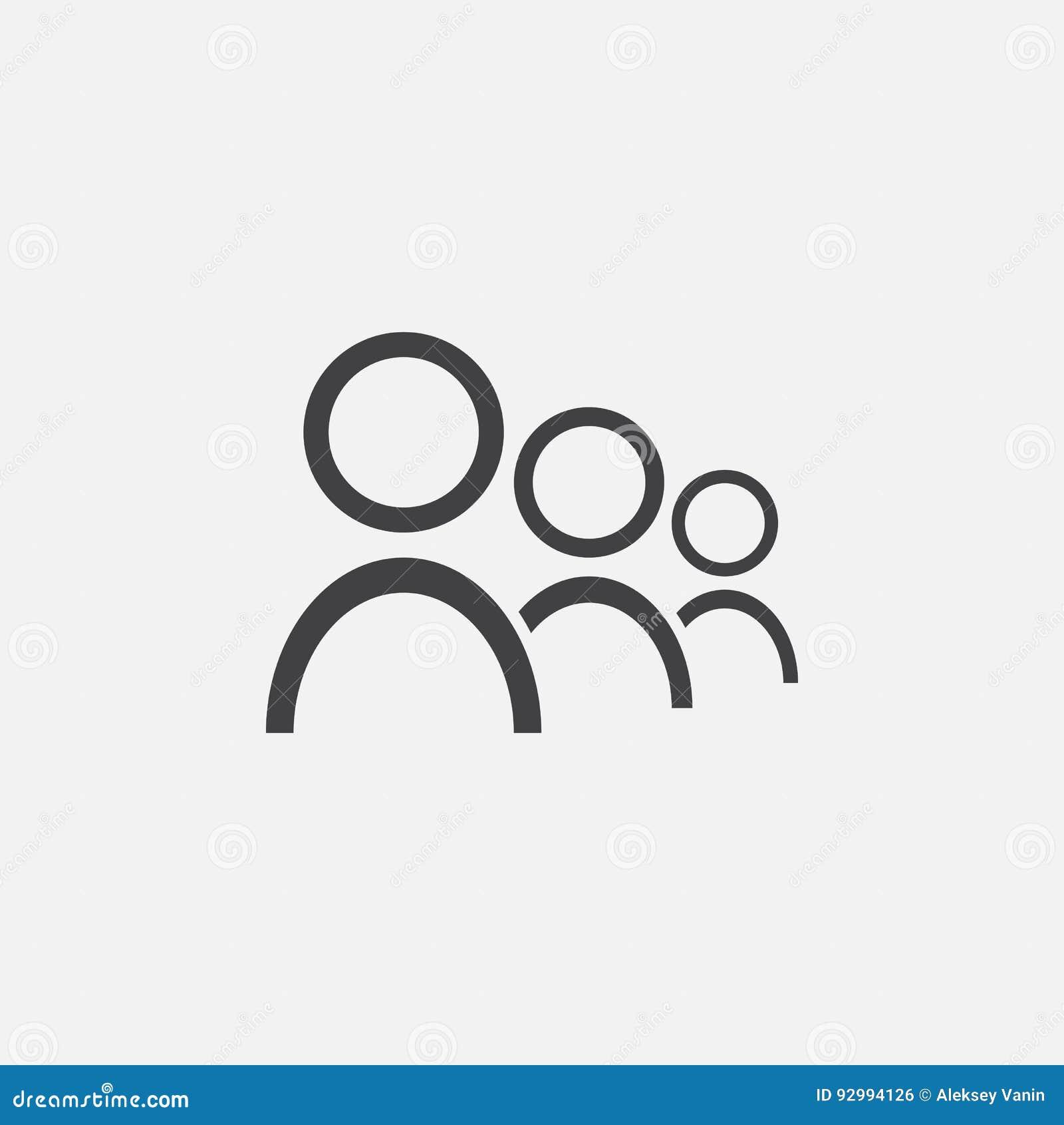 Team Ikone, Vektorlogoillustration, das Piktogramm, das auf Weiß lokalisiert wird