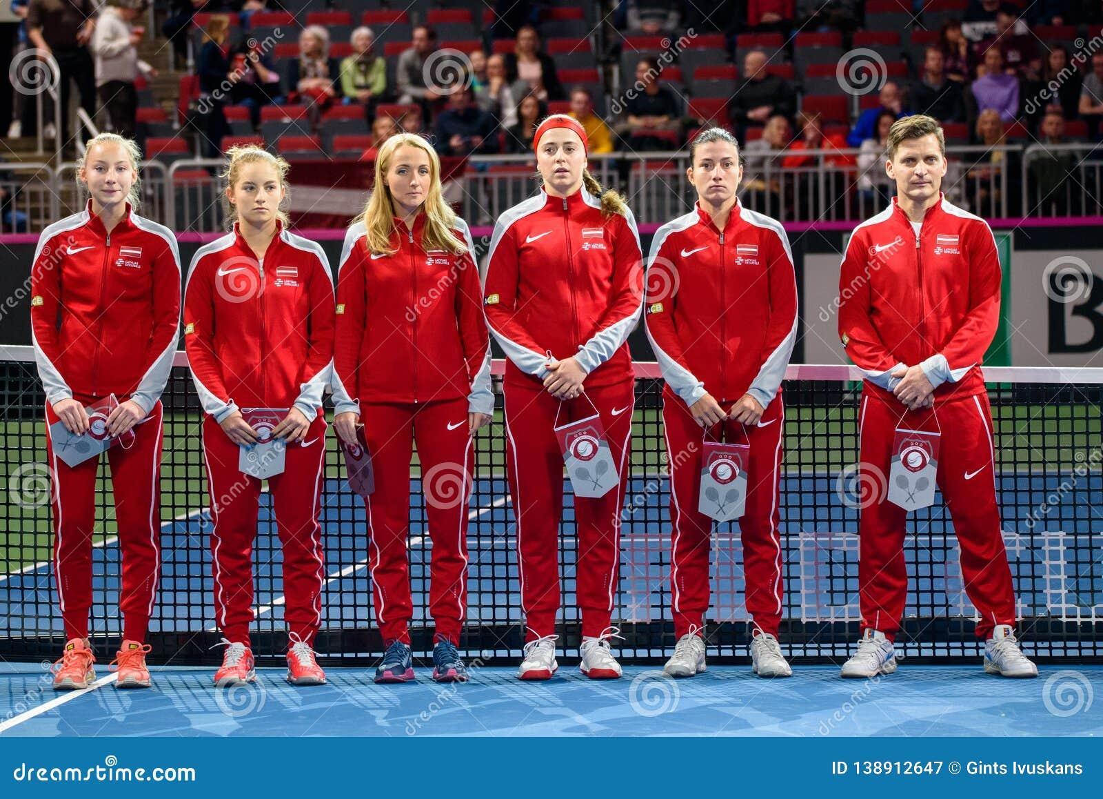 Team Latvia per FedCup, prima gioco rotondo del gruppo II del mondo del primo