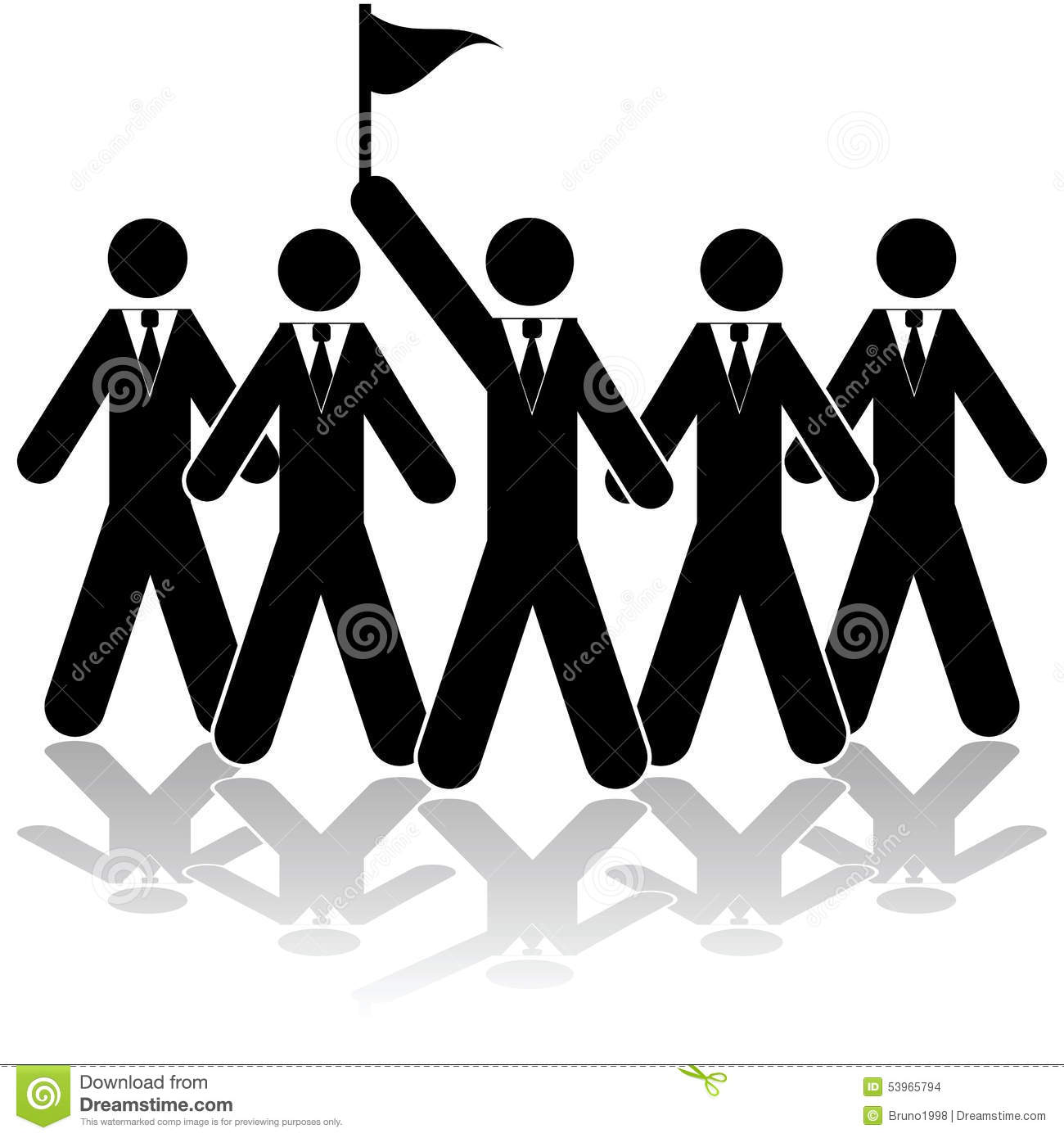 team leader stock vector image  team leader