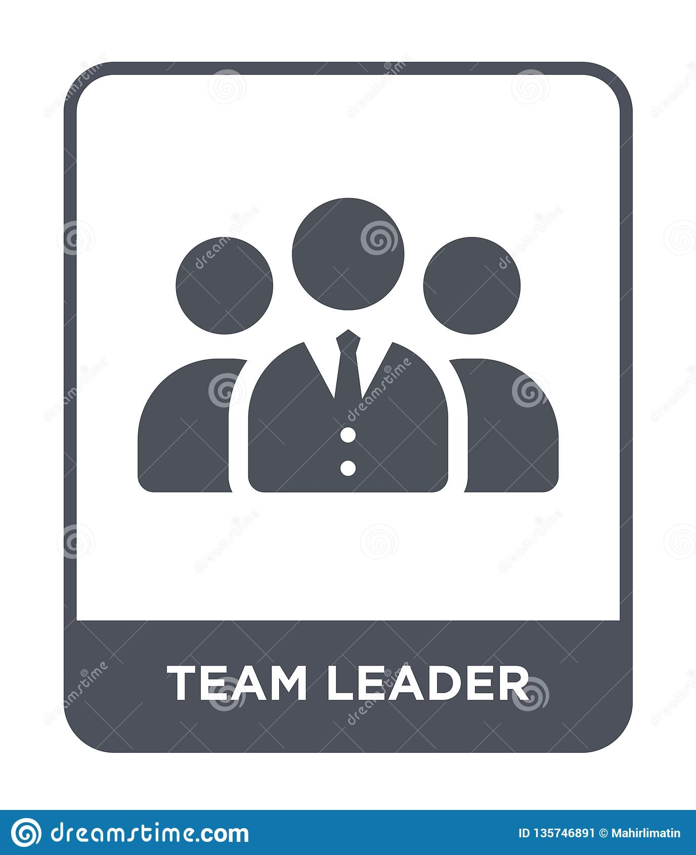 team leader icon in trendy design style. team leader icon isolated on white background. team leader vector icon simple and modern