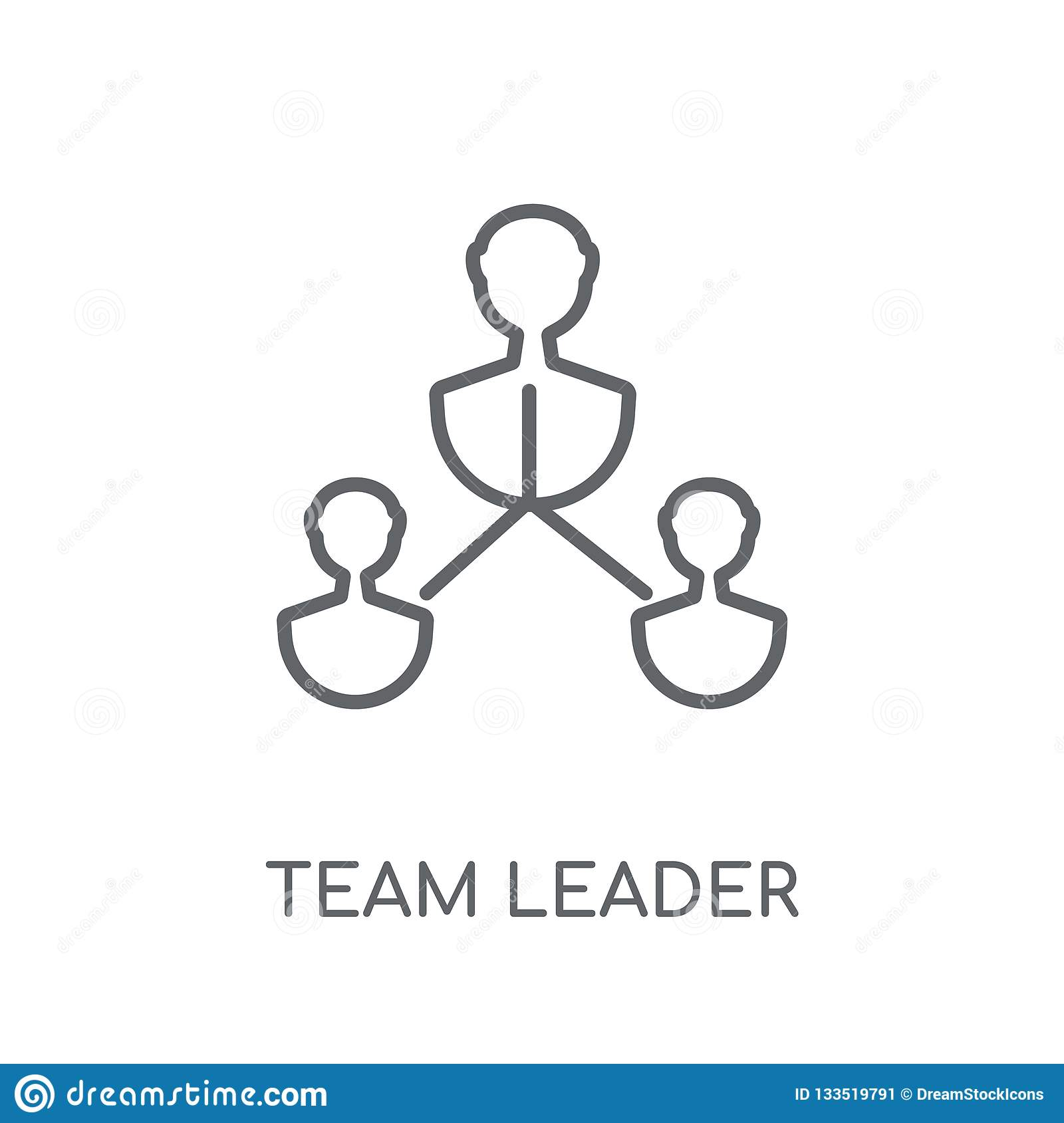 Team Leader Linear Icon. Modern Outline Team Leader Logo ...