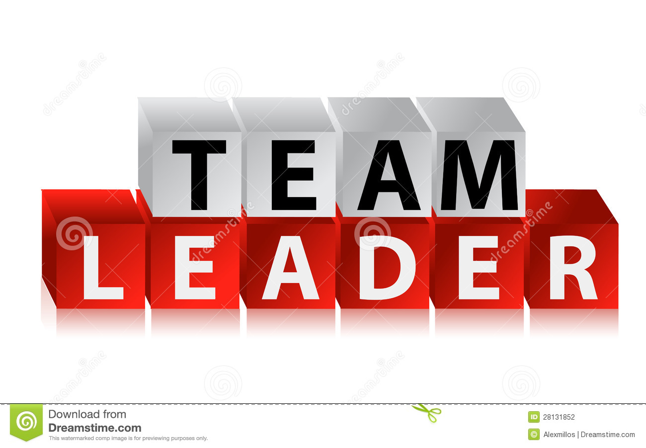 Team Leader - Text With Red Cubes Stock Photography - Image: 28131852