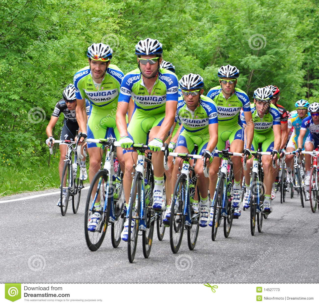 Team Liquigas editorial stock photo. Image of cycling ...
