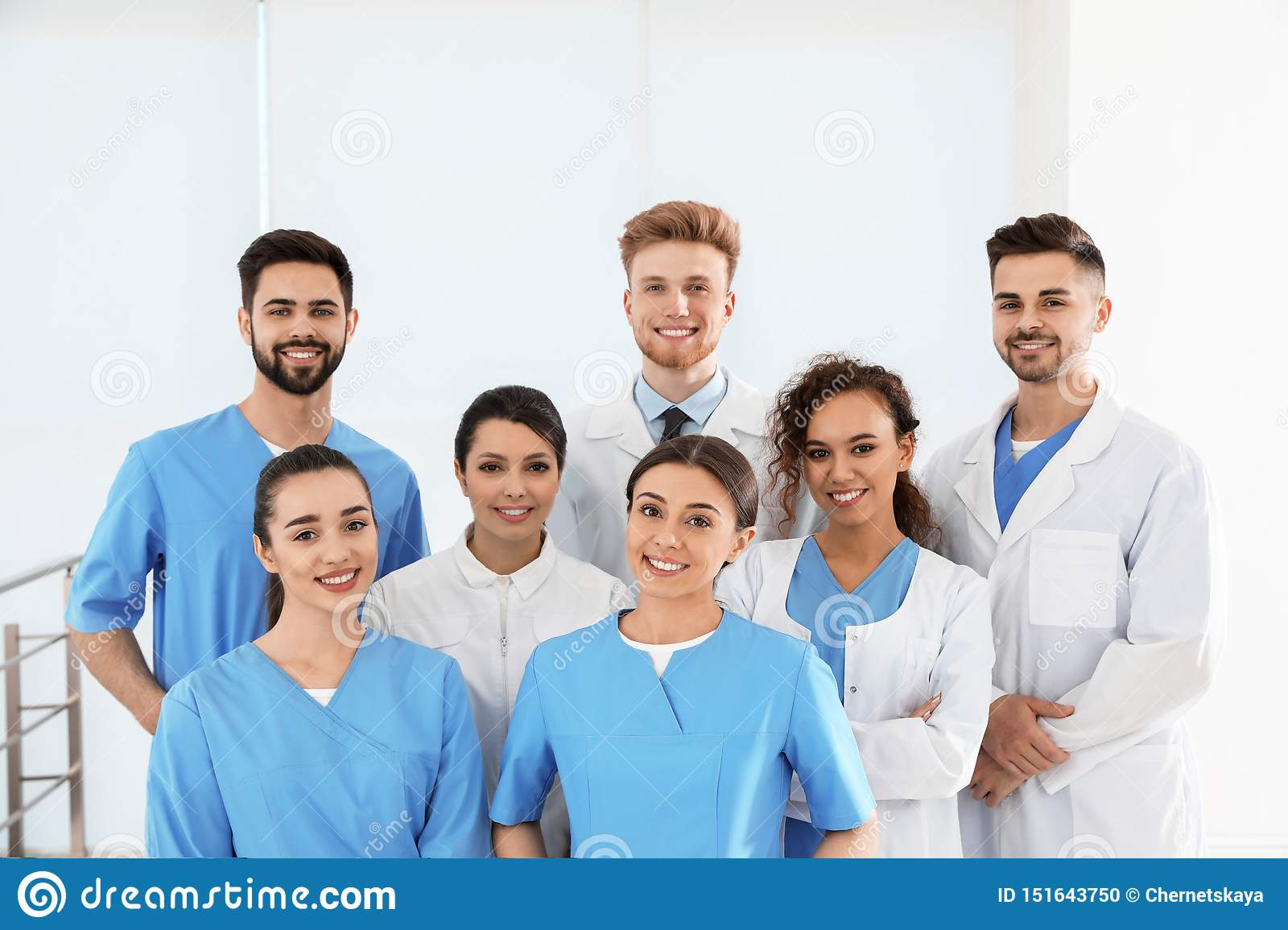 Team of medical workers in hospital