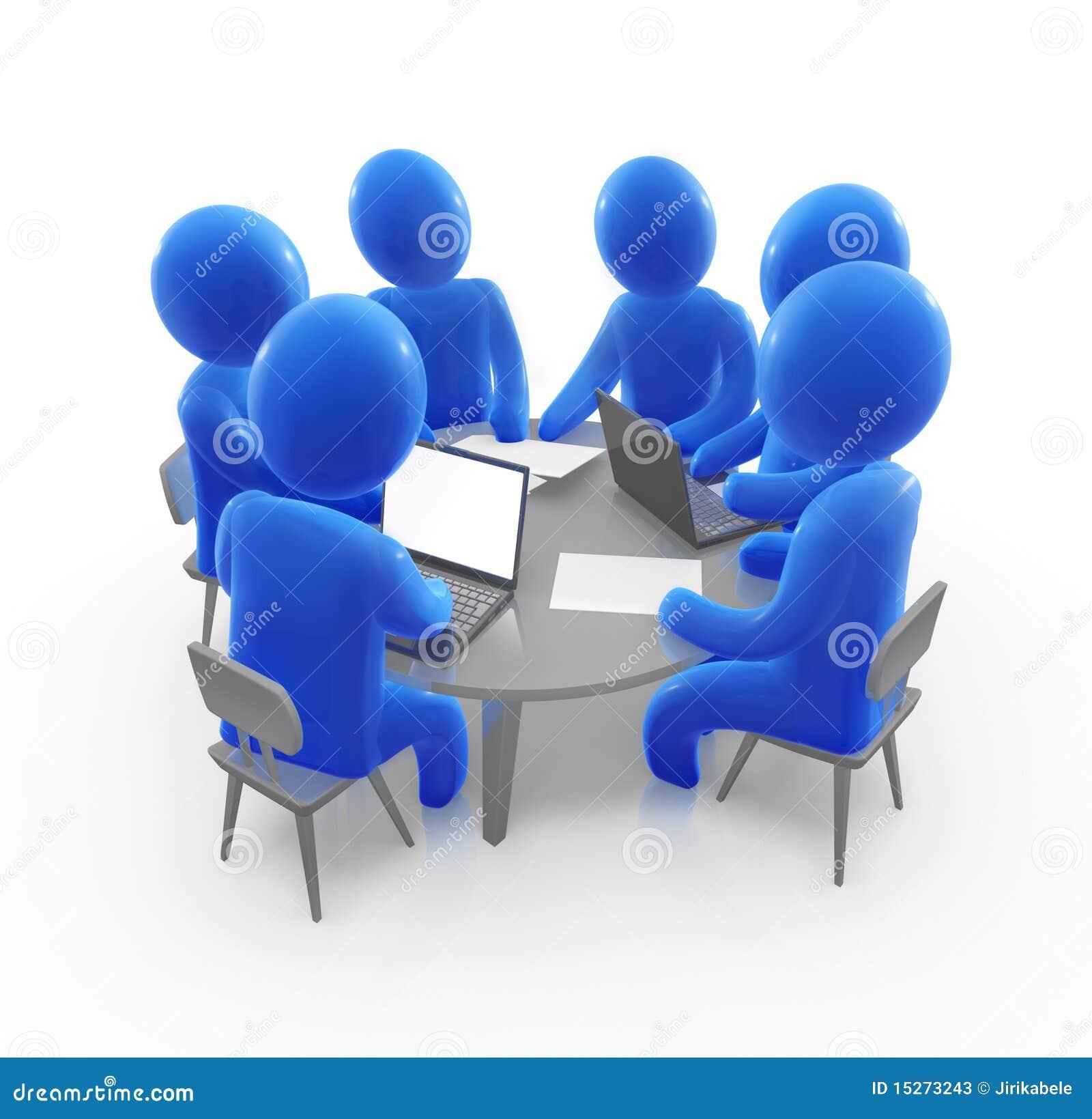 Round table meeting icon - Team Meeting Stock Photos Image 15273243
